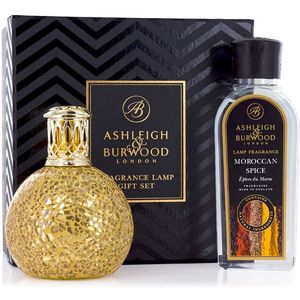 Fragrance Lamp Gift Set Golden Orb & Moroccan Spice