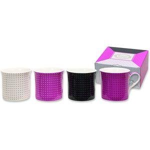 Heath McCabe Princess Fine Bone China Mugs Set of 4 - In the Pink