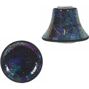 Aroma Jar Candle Shade & Plate Set: Exotica Mosaic