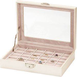 Mele & Co Leatherette Jewellery Ring Box - Lustrous Allure Gia