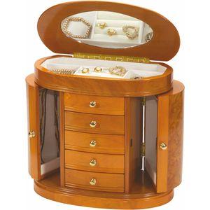 Burl & Oak Wooden Jewellery Box (Leah)