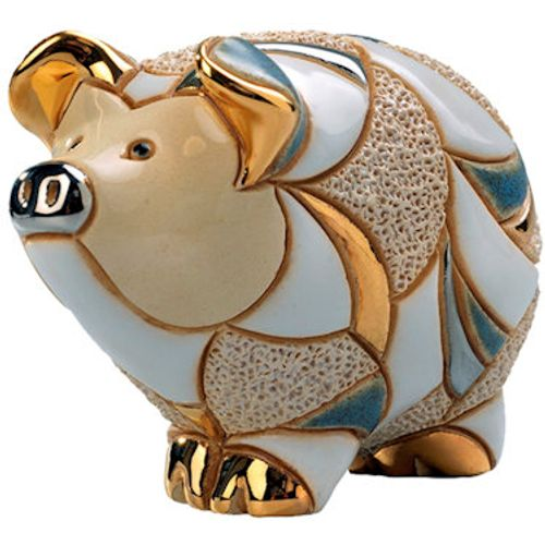 De Rosa Striped Pig Figurine F130