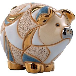 De Rosa Baby Striped Pig Figurine