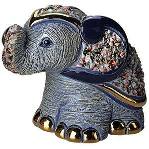 De Rosa Blue Elephant Figurine