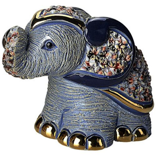 De Rosa Blue Elephant Figurine B01B