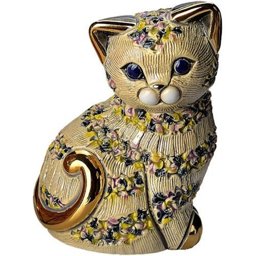 De Rosa Grey Cat Figurine B02G
