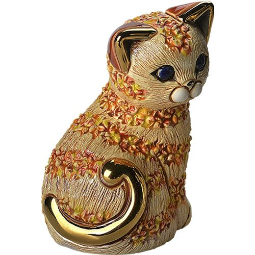 De Rosa Orange Cat Figurine BO20