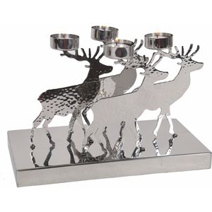 Christmas Festive Reindeer Tea Light Candle Holder