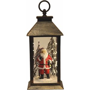 Light Up Christmas Lantern - Santa in Woodland