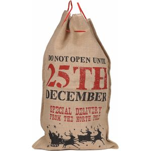 Hessian Christmas Gift Sack - Special Delivery