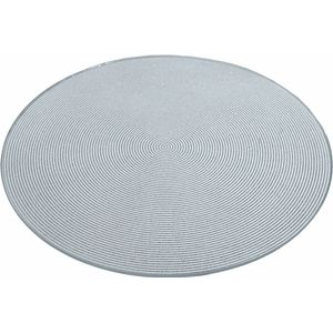 Round Mirror Display Plate - Silver Circles