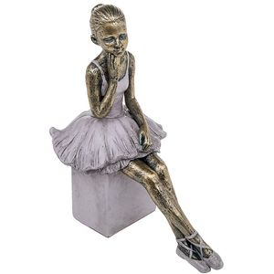 Pretty Ballerina Figurine Thinking Pose