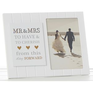 Sentiment Photo Frame Mr & Mrs (with verse)