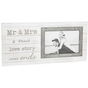 "Sentiment Wedding Photo Frame 6"" x 4"" - Mr & Mrs"