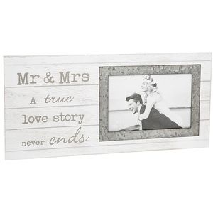Sentiment Wedding Photo Frame Mr & Mrs