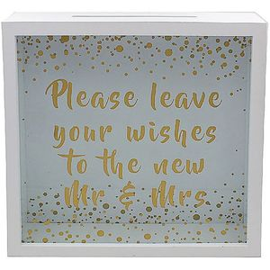 Wedding Wishes Mr & Mrs Collection Box