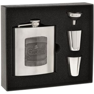 Hip Flask 2 Cups Grooms Gift