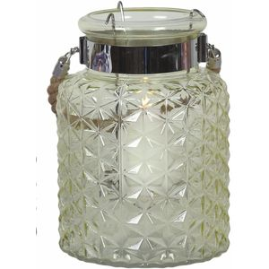 Candle Lantern diamond design (green)