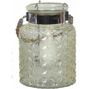 Glass Lantern Candle Holder - Green