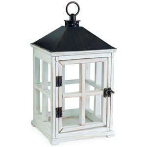 Wooden Candle Warmer Lantern - Weathered