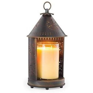 Tin Punched Candle Warmer Lantern