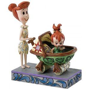 Bedrock Buggy (Wilma & Pebbles) Figurine