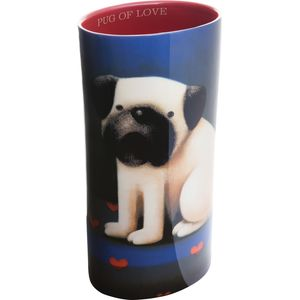 John Beswick Vase - Doug Hyde Pug Of Love