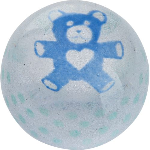 Precious Moments Blue Teddy Dartington Crystal Precious Moments Blue Teddy