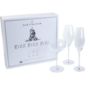 Dartington Champagne Glasses Fizz Fizz Fizz Gift Set