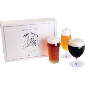 Dartington Beer Glass Set: Three Cheers for Beers
