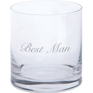 Dartington Crystal Tumbler Glass: Best Man