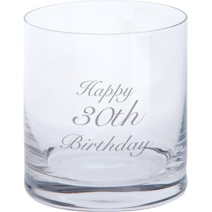 Dartington Crystal Tumbler Glass: Happy 30th Birthday
