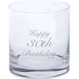Dartington Glass Tumbler - Happy 30th Birthday