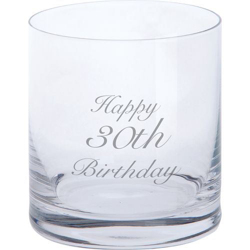Tumbler - Happy 30th Birthday Glassware