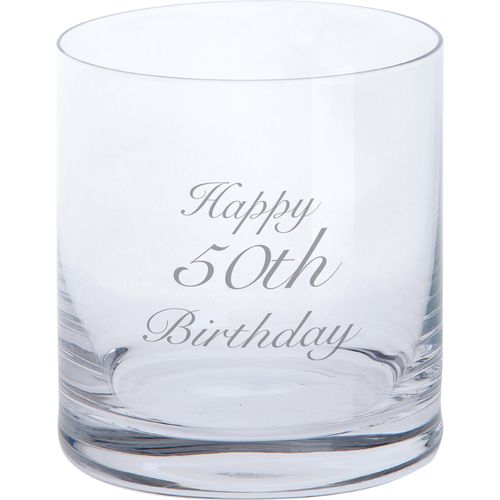 Tumbler - Happy 50th Birthday Glassware