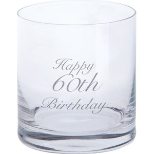 Dartington Crystal Tumbler Glass: Happy 60th Birthday