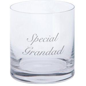 Dartington Crystal Tumbler Glass: Special Grandad