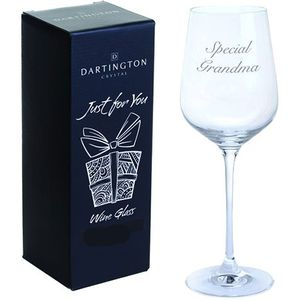 Dartington Crystal Wine Glass: Special Grandma