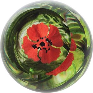 Caithness Glass Paperweight: Flanders Field