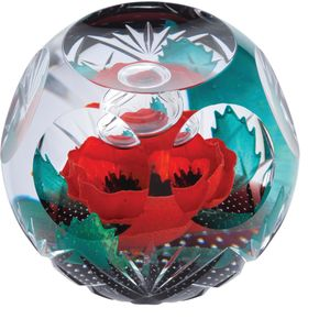 Caithness Glass Paperweight: Remembrance Always Remembe