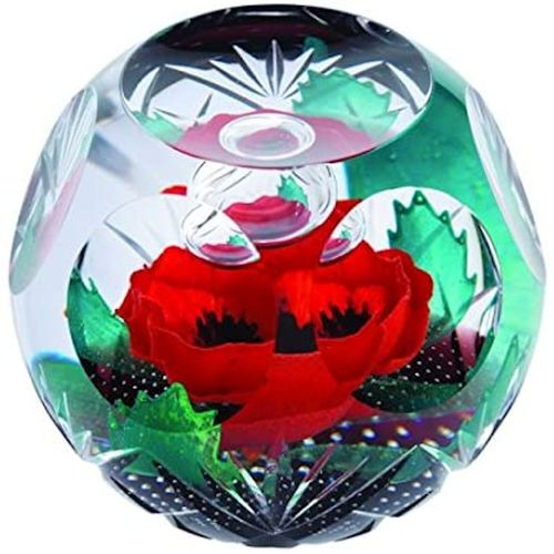 Caithness Glass Paperweight: Remembrance Always Remember