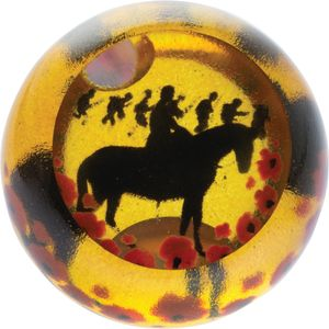 Caithness Glass Paperweight: Remembrance Heroes All