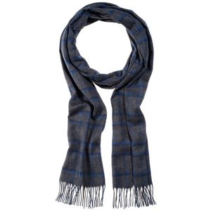 Monti Gents Scarf - Blue Check