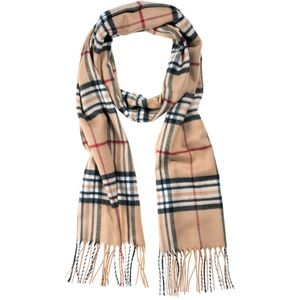 Monti Gents Scarf - Camel Check
