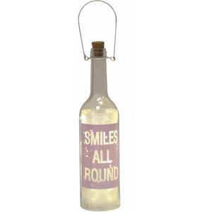 Smiles All Round - LED Light Up Glass Bottle