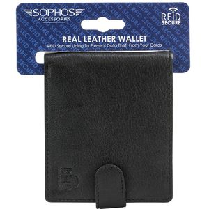 Leather RFID Lined Wallet - Black