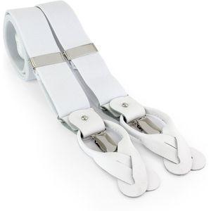 Mens Braces One Size - White