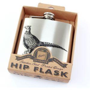 Hip Flask 6oz Pheasant