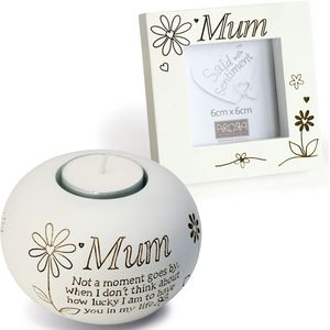 Tealight & Photo Frame Gift Set - Mum