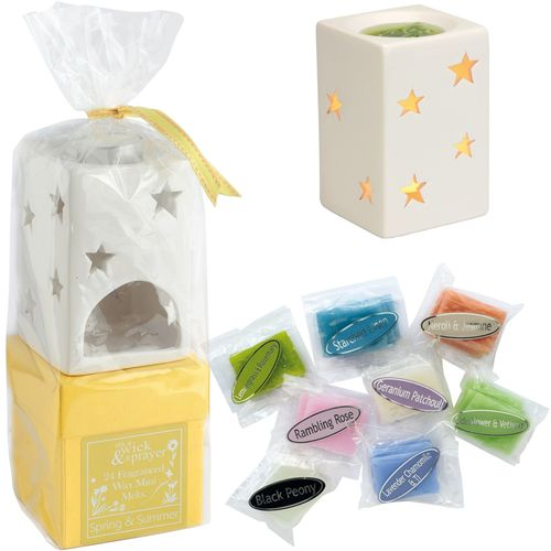 On A Wick & A Prayer Wax Melt Burner Gift Set - Spring & Summer